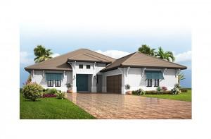 Bellamore - British West Indies Elevation - 2,312 sqft, 3 Bedroom, 2.5 - 3 Bathroom - Cardel Homes Tampa
