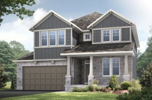 Aberdeen CS - Canadiana A1 Elevation - 2,847 sqft, 4 Bedroom, 2.5 Bathroom - Cardel Homes Ottawa
