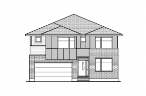Aberdeen CS - Modern Urban A3 Elevation - 2,847 sqft, 4 Bedroom, 2.5 Bathroom - Cardel Homes Ottawa