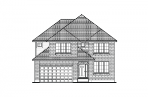 Aberdeen CS - Traditional A2 Elevation - 2,847 sqft, 4 Bedroom, 2.5 Bathroom - Cardel Homes Ottawa