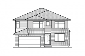 Barrington CS - Modern Urban A3 Elevation - 2,531 sqft, 4 - 5 Bedroom, 2.5 Bathroom - Cardel Homes Ottawa