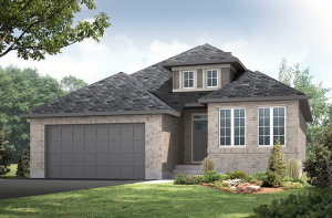 Bowland CS - Traditional A2 Elevation - 1,644 sqft, 2 - 3 Bedroom, 2 Bathroom - Cardel Homes Ottawa