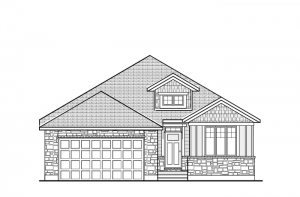 Bowland CS - Canadiana A1 Elevation - 1,644 sqft, 2 - 3 Bedroom, 2 Bathroom - Cardel Homes Ottawa