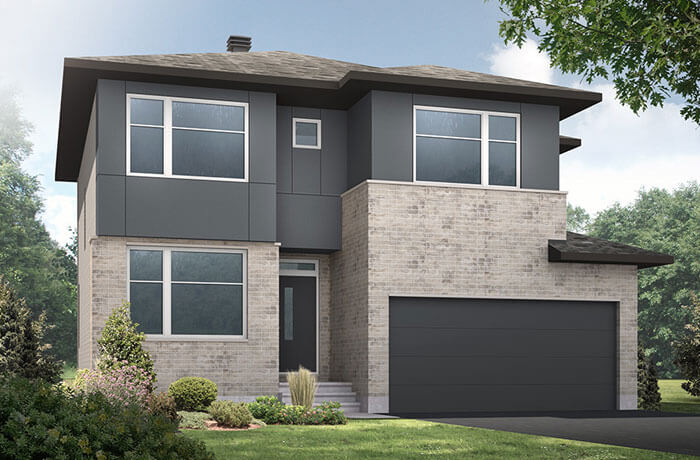 Cornell CS - Modern Urban A3 Elevation - 2,130 sqft, 3 - 4 Bedroom, 2.5 Bathroom - Cardel Homes Ottawa