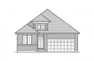 Lancaster CS - Traditional A2 Elevation - 1,678 sqft, 3 Bedroom, 2 Bathroom - Cardel Homes Ottawa
