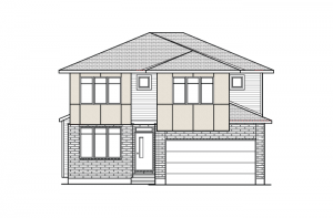 Oxford CS - Modern Urban A3 Elevation - 2,552 sqft, 3 Bedroom, 2.5 Bathroom - Cardel Homes Ottawa