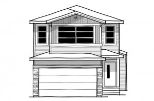 Sandhurst - Modern Prairie F1 Elevation - 1,929 sqft, 3 Bedroom, 2.5 Bathroom - Cardel Homes Calgary