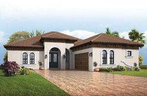 Bellamore - Italian Villa Elevation - 2,312 sqft, 3 Bedroom, 2.5 - 3 Bathroom - Cardel Homes Tampa