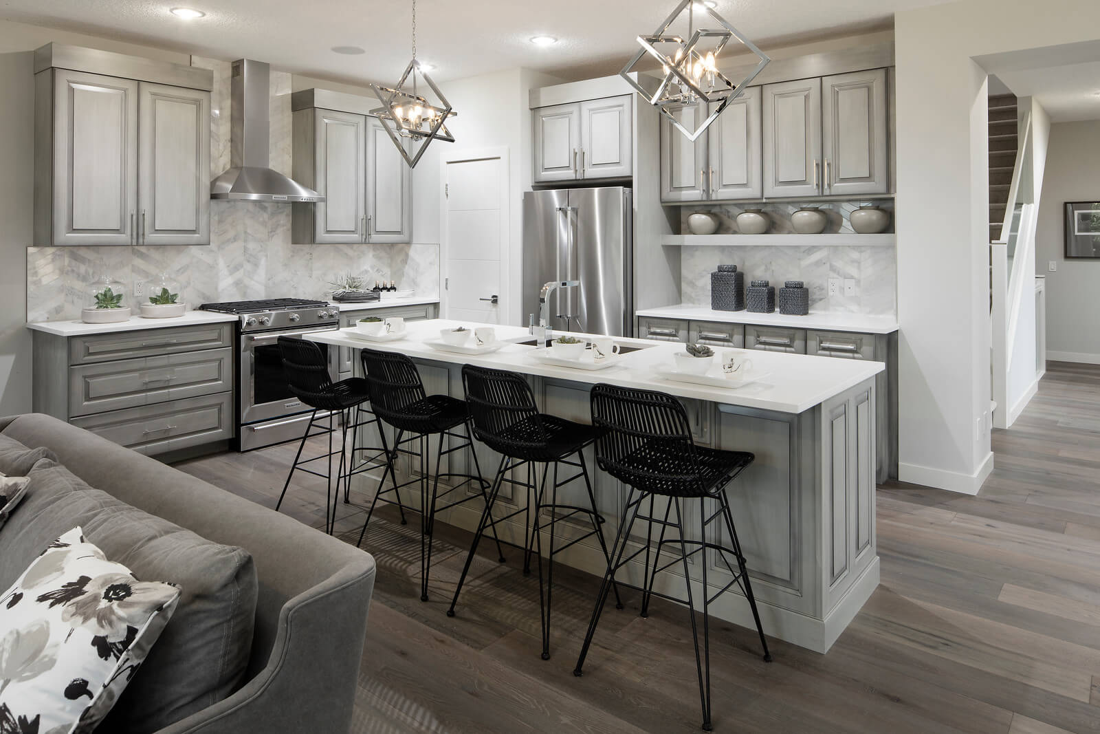 New Calgary  Model Home Savin in Shawnee Park, located at 338 SHAWNEE BOULEVARD SW Built By Cardel Homes Calgary