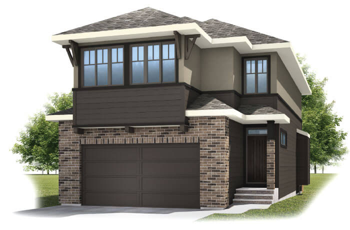 Barrett 2 SP - Barrett 2 Elevation - 2,537 sqft, 4 Bedroom, 3.5 Bathroom - Cardel Homes Calgary