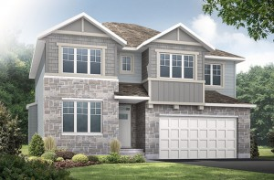 Lockhart CS - Canadiana A1 Elevation - 2,278 sqft, 4 Bedroom, 2.5 Bathroom - Cardel Homes Ottawa