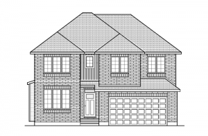 Lockhart CS - Traditional A2 Elevation - 2,278 sqft, 4 Bedroom, 2.5 Bathroom - Cardel Homes Ottawa