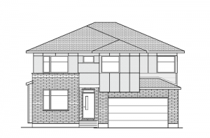 Lockhart CS - Modern A3 Elevation - 2,278 sqft, 4 Bedroom, 2.5 Bathroom - Cardel Homes Ottawa