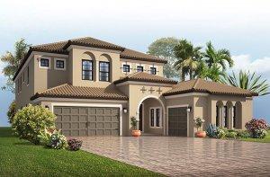 Palazzo - Mizner Elevation - 3,730 - 3,788 sqft, 3 - 5 Bedroom, 3 - 4 Bathroom - Cardel Homes Tampa