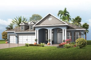 St. Lucia BEXLEY - American Traditional Elevation - 3,336 sqft, 4 Bedroom, 3 Bathroom - Cardel Homes Tampa