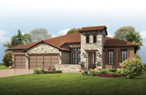 St. Lucia BEXLEY - Tuscan Cottage Elevation - 3,336 sqft, 4 Bedroom, 3 Bathroom - Cardel Homes Tampa