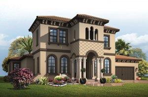 Waldorf_ItalianVilla_700x460 Elevation - 3,661 - 3,672 sqft, 4 - 5 Bedroom, 3.5 - 4 Bathroom - Cardel Homes Tampa