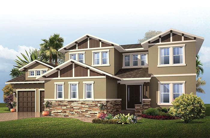 Wilshire2_Craftsman_700x460 Elevation - 3,638 - 4,260 sqft, 5 Bedroom, 4 Bathroom - Cardel Homes Tampa
