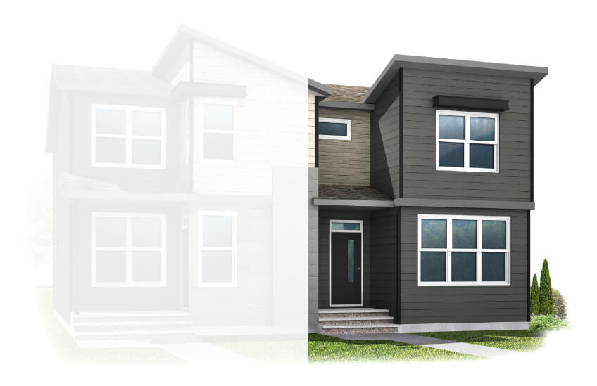 New Calgary Paired Home Quick Possession Cobalt 1 in Walden, located at 1326 Walden Drive SE Built By Cardel Homes Calgary