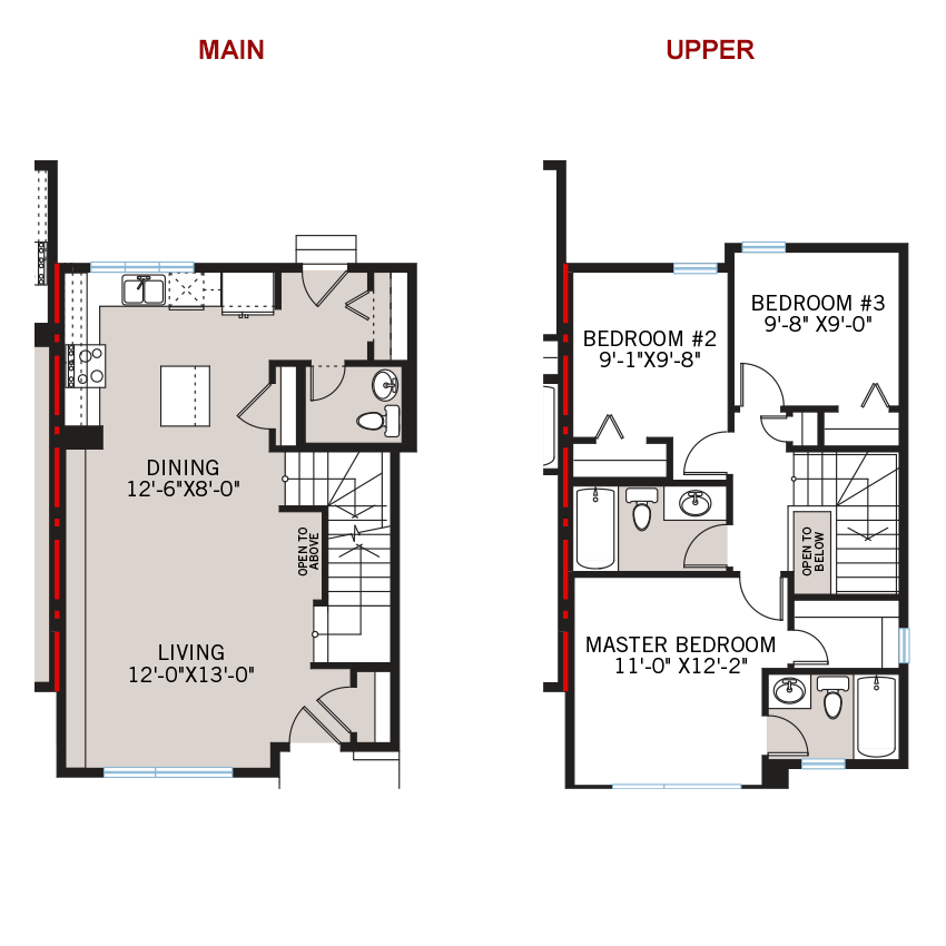 New Calgary Paired Home Quick Possession Soho 3 Floorplan in Walden, located at 1347 Walden Drive SE Built By Cardel Homes Calgary