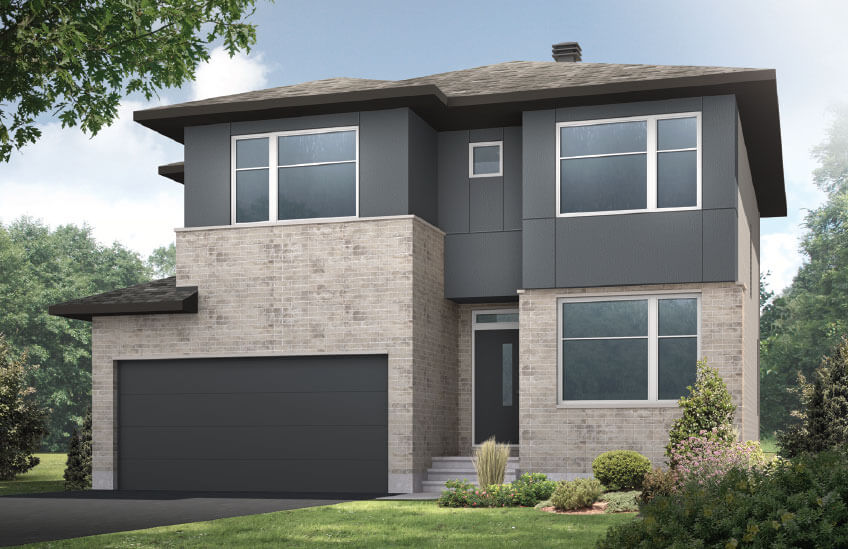 New Ottawa Single Family Home Quick Possession Cornell in Millers Crossing in Carleton Place, located at 83 Ridell Street Built By Cardel Homes Ottawa