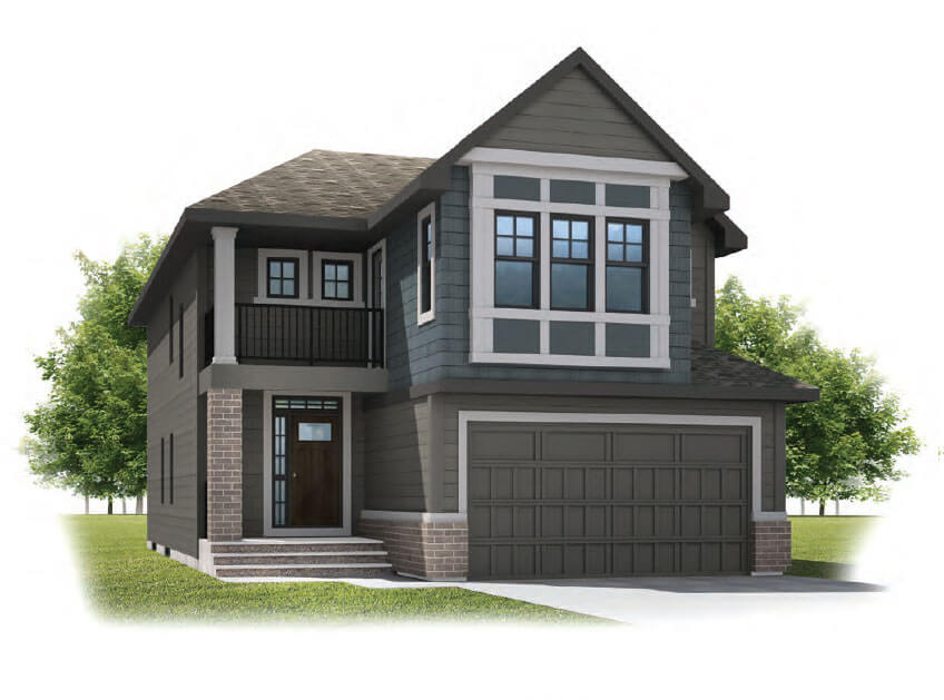 New Calgary Single Family Home Quick Possession Preston in Shawnee Park, located at 719 Shawnee Drive SW Built By Cardel Homes Calgary
