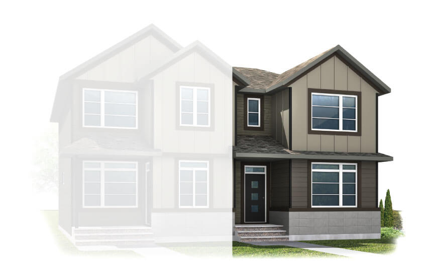 New Calgary Paired Home Quick Possession Cobalt 1 in Walden, located at 48 Walgrove Drive SE Built By Cardel Homes Calgary