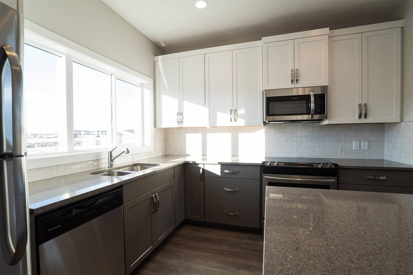 New Calgary Paired Home Quick Possession Cobalt 1 in Walden, located at 48 Walgrove Drive SE Built By Cardel Homes
