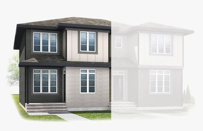 New Calgary Paired Home Quick Possession Indigo 1 in Walden, located at 1338 Walden Drive SE Built By Cardel Homes Calgary