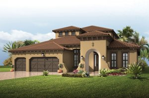 St. Lucia 2 - Spanish Colonial Elevation - 3,952 sqft, 5 Bedroom, 4 Bathroom - Cardel Homes Tampa