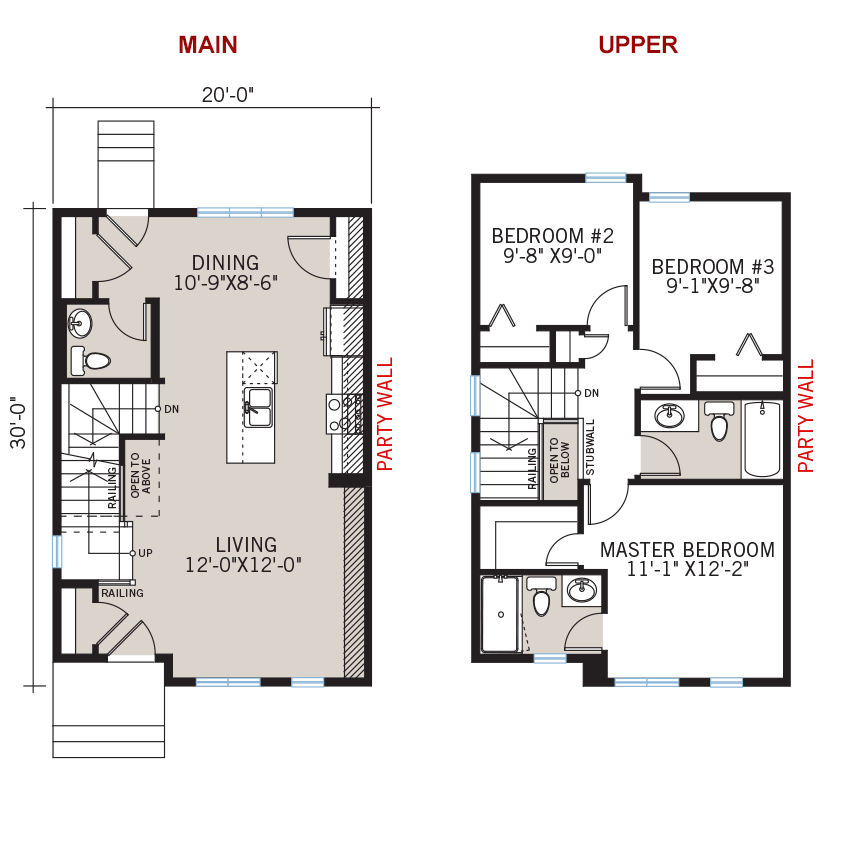 New Calgary Paired Home Quick Possession Soho 2 Floorplan in Walden, located at 1351 Walden Drive SE Built By Cardel Homes Calgary