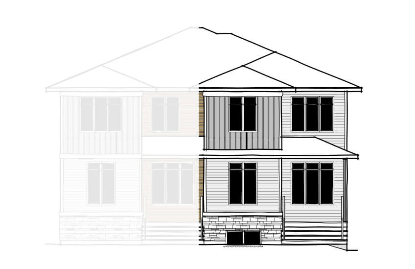 New Calgary Paired Home Quick Possession Indigo 2 in Savanna, located at 9112 - 52 Street NE Built By Cardel Homes Calgary