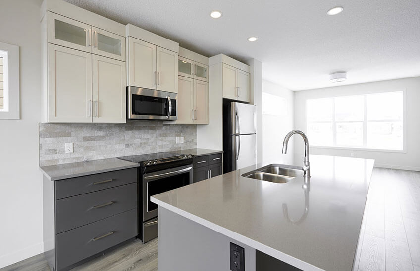 New Calgary Paired Home Quick Possession Cobalt 1 in Walden, located at 1326 Walden Drive SE Built By Cardel Homes