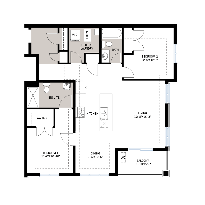 New Ottawa Condos Home Quick Possession Carbon Floorplan in Blackstone in Kanata South, located at Suite 101 - 210 Livery Street, Kanata Built By Cardel Homes Ottawa