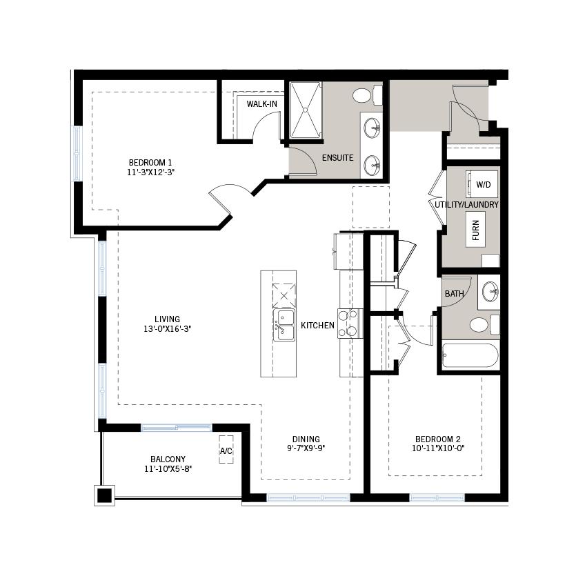 New Ottawa Condos Home Quick Possession Diamond Floorplan in Blackstone in Kanata South, located at Suite 204 - 210 Livery Street, Kanata Built By Cardel Homes Ottawa