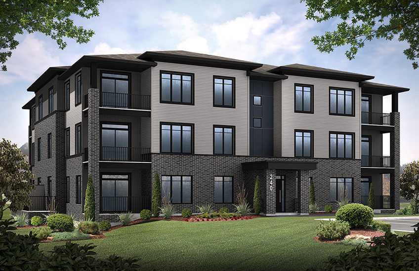New Ottawa Condos Home Quick Possession Onyx in Blackstone in Kanata South, located at 210 Livery Street, Kanata Built By Cardel Homes Ottawa