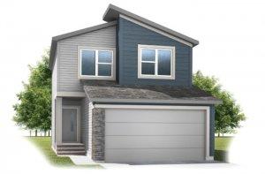Invis 1 - F1 Elevation - 1,656 sqft, 3 Bedroom, 2.5 Bathroom - Cardel Homes Calgary