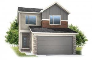 Invis 1 - F2 Elevation - 1,656 sqft, 3 Bedroom, 2.5 Bathroom - Cardel Homes Calgary