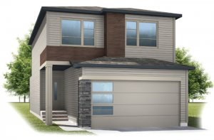 Invis 2 - F1 Elevation - 1,710 sqft, 3 Bedroom, 2.5 Bathroom - Cardel Homes Calgary