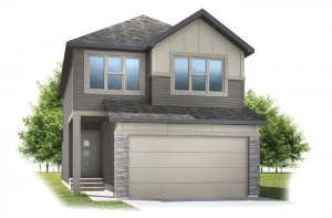 Invis 2 - F2 Elevation - 1,710 sqft, 3 Bedroom, 2.5 Bathroom - Cardel Homes Calgary