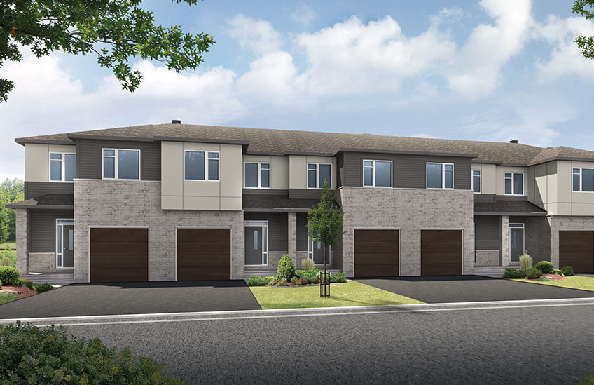 New Ottawa Towns Home Quick Possession Teak Townhome in Millers Crossing in Carleton Place, located at 86 Ridell Street, Carleton Place Built By Cardel Homes Ottawa