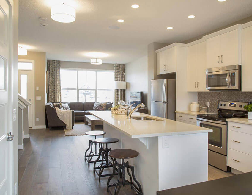 The Cobalt 1 - 1,340 sq ft - 3 bedrooms - 2.5 Bathrooms -  View Walden Floorplans  - Cardel Homes Calgary
