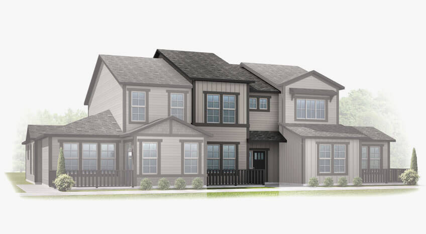 New Calgary Single Family Home Sage in Shawnee Park, located at 6835 Dewey Drive, Parker, CO Built By Cardel Homes Calgary
