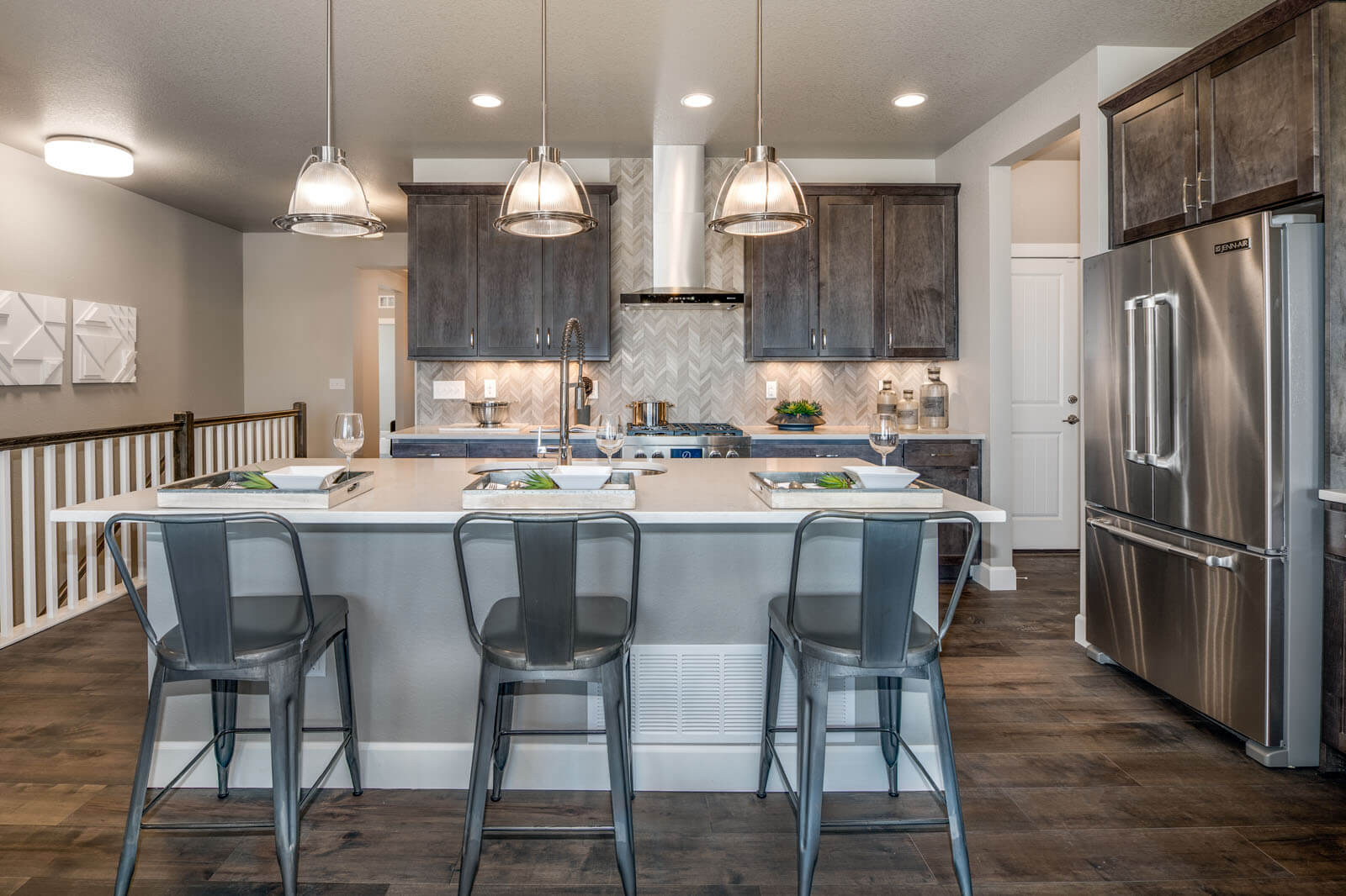New Denver  Model Home Ponderosa in Lincoln Creek, located at 11809 Barrentine Loop, Parker, CO Built By Cardel Homes Denver