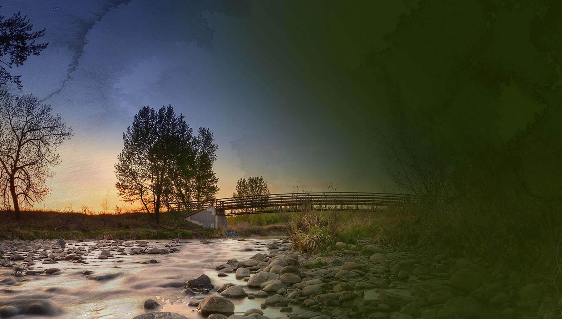Sunset in Fish Creek Provincial Park, Shawnee Park, Calgary