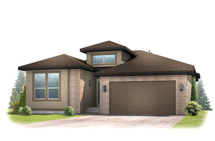 Augusta_DVR_RR - Modern Prairie Front Elevation - 1,944 sqft, 2 Bedroom, 2.5 Bathroom - Cardel Homes Denver