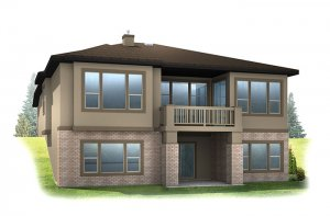 Augusta_DVR_RR - Modern Prairie Rear Elevation - 1,944 sqft, 2 Bedroom, 2.5 Bathroom - Cardel Homes Denver