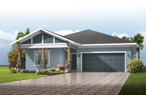 Northwood - Craftsman Cottage Elevation - 2,200 sqft, 2-3 Bedroom, 2-3 Bathroom - Cardel Homes Tampa
