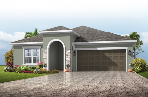Northwood - Provincial Chateau Elevation - 2,200 sqft, 3-4 Bedroom, 2-3 Bathroom - Cardel Homes Tampa
