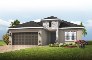 Southampton - Provincial Chateau Elevation - 2,500 sqft, 4-5 Bedroom, 3 Bathroom - Cardel Homes Tampa
